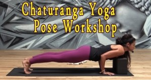 Chaturanga for Beginners Bootcamp Yoga Pose Tutorial with Raquel Jordan